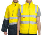 Hard Yakka Men's Hi-Vis 4-in-1 Two Tone Drill Jacket w/ 3M Tape - Yellow/Green 2
