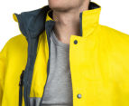 Hard Yakka Men's Hi-Vis 4-in-1 Two Tone Drill Jacket w/ 3M Tape - Yellow/Green 6
