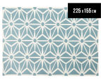 Hannah Pure Wool Flatweave Star 225x155cm Medium Rug - Blue 1