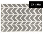 Hannah Pure Wool Flatweave Arrows 225x155cm Medium Rug - Grey 1