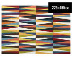 Hannah Pure Wool Flatweave Spikes 225x155cm Medium Rug - Multi 1