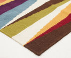 Hannah Pure Wool Flatweave Spikes 225x155cm Medium Rug - Multi 2