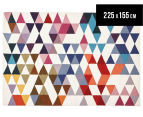 Hannah Pure Wool Flatweave Flags 225x155cm Medium Rug - Multi 1