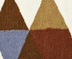 Hannah Pure Wool Flatweave Flags 225x155cm Medium Rug - Multi 4