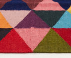 Hannah Pure Wool Flatweave Triangles 300x80cm Small Runner - Multi 3
