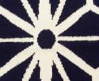 Hannah Pure Wool Flatweave Star 280x190cm Large Rug - Navy 4
