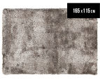 Super Soft Metallic 165x115cm Shag Rug - Granite 1