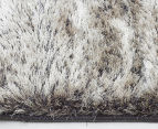 Super Soft Metallic 165x115cm Shag Rug - Granite 4