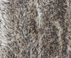 Super Soft Metallic 165x115cm Shag Rug - Granite 5