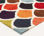 Hannah Pure Wool Flatweave Scales 300x80cm Small Runner - Multi 2