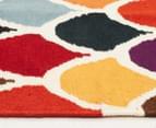 Hannah Pure Wool Flatweave Scales 320x230cm X-Large Rug - Multi 3