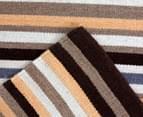 Hannah Pure Wool Flatweave Desert Stripe 225x155cm Medium Rug - Beige 4