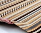 Hannah Pure Wool Flatweave Desert Stripe 225x155cm Medium Rug - Beige 3