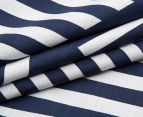 Bambury Elliot Double Reversible Quilt Cover Set - Navy/White 4