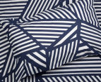 Bambury Elliot Queen Bed Reversible Quilt Cover Set - Navy/White 3