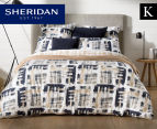 Sheridan Lior King Bed Quilt Cover Set - Dune 1