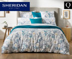 Sheridan Paloma Queen Bed Quilt Cover Set - Ocean 1