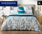 Sheridan Paloma King Bed Quilt Cover Set - Ocean 1