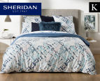 Sheridan Alchemie King Bed Quilt Cover Set - Aquamarine 1