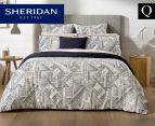 Sheridan Emden Queen Bed Quilt Cover Set - Midnight 1
