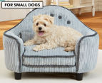 Enchanted Home Lucas Headboard Pet Bed with Pillow For Small Dogs - Blue 1