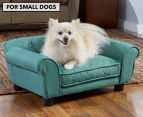 Enchanted Home Sydney Snuggle Pet Bed For Small Dogs - Teal 1