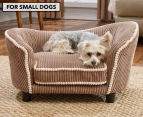 Enchanted Home Teddy Snuggle Pet Bed For Small Dogs - Mocha 1