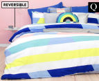 Bambury Direction Queen Reversible Quilt Cover Set - Pastel 1