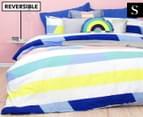 Bambury Direction Single Reversible Quilt Cover Set - Pastel 1