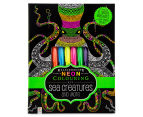 Kaleidoscope Neon Colouring Kit - Sea Creatures & More 1
