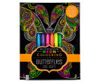 Kaleidoscope Neon Colouring Kit - Butterflies & More 1