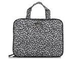 Wicked Sista Snow Leopard Large Cosmetic Bag - Black/White 1