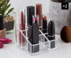 2 x 9-Compartment Acrylic Lipstick Holder 1
