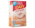 2 x Uncle Tobys Oats Quick Sachets Caramel 420g 8pk 2