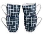 Aspen 10cm Grid Mug 4-Pack - Ink Blue 1