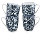 Aspen 10cm Floral Mug 4-Pack - Ink Blue 1
