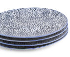Aspen 23cm Floral Plate 4-Pack - Ink Blue 4
