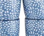 Aspen 10cm Floral Mug 4-Pack - Aegean Blue 4
