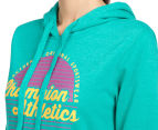 Champion Women's VF Athletics Hoodie - Humid Green Heather 6