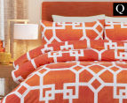 Belmondo Byzantium Queen Bed Quilt Cover Set - Orange 1
