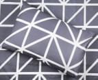 Belmondo Hector Queen Bed Quilt Cover Set - Steel 4