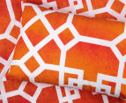 Belmondo Byzantium Queen Bed Quilt Cover Set - Orange 4