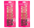 2 x Cameo One Touch Clips Blonde to Brunette 12pk 1