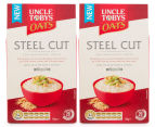 2 x Uncle Tobys Steel Cut Oats 750g 1