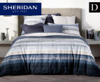 Sheridan Hillside Double Bed Quilt Cover Set - Midnight 1