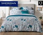 Sheridan Anscombe Queen Bed Quilt Cover Set - Aquamarine 1