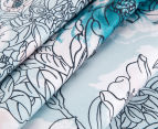 Sheridan Anscombe King Bed Quilt Cover Set - Aquamarine 3