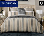 Sheridan Hemming Queen Bed Quilt Cover Set - Peat 1