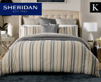 Sheridan Hemming King Bed Quilt Cover Set - Peat 1
