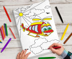 Personalised Kids' 25x38cm Colour-In Canvas 3